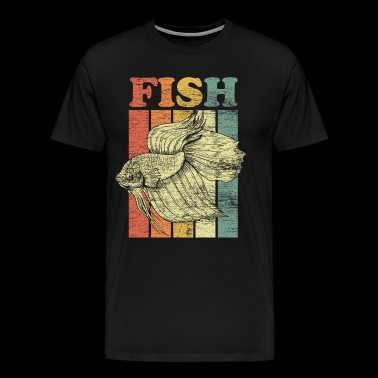 Fish fishing fisherman fishing nature animal - Men's Premium T-Shirt