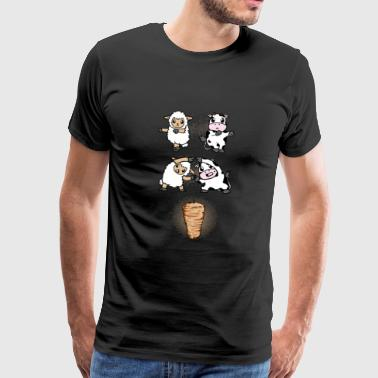 Lamb and veal fusion to the kebab - Men's Premium T-Shirt
