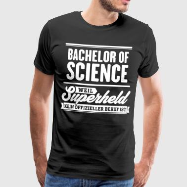 Superheld Bachelor of Science - Männer Premium T-Shirt