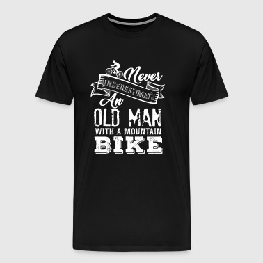 Old man mountain bike - Men's Premium T-Shirt
