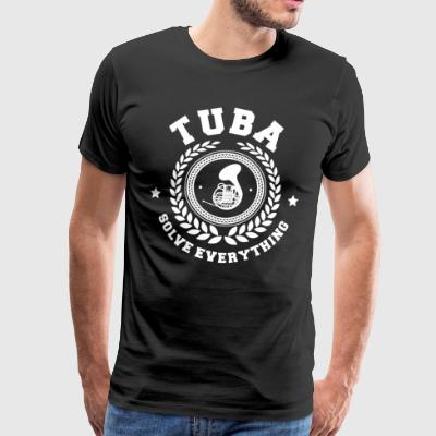 TUBIST ORCHESTRA: TUBA SOLVE EVERYTHING GIFT - Men's Premium T-Shirt