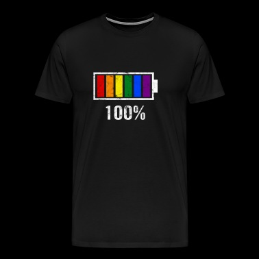 LGBT Pride Rainbow Colour Charging Bar Gay Pride - Herre premium T-shirt