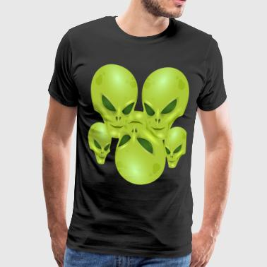 alien alien Ufo beamer future attack alfi - Men's Premium T-Shirt