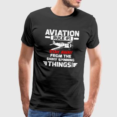Aviation Rule 1 - Premium T-skjorte for menn