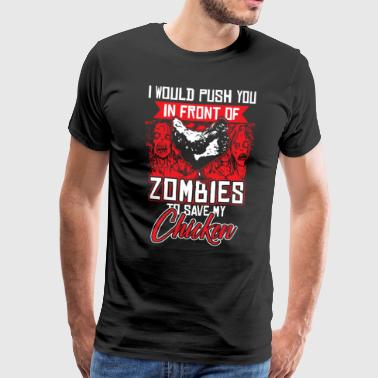 Chicken Zombie Egg Bird Animal Gift Halloween - Mannen Premium T-shirt