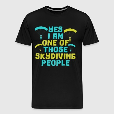 Skydiving fallskjermhopping fallskjermhopping - Premium T-skjorte for menn