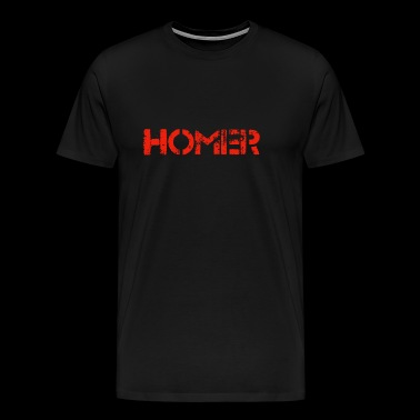Homer (rouge) - T-shirt Premium Homme
