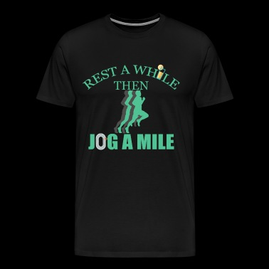 Jog a mile - Men's Premium T-Shirt