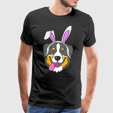 Bernese Mountain Dog Easter Bunny Happy Easter Gift - Men's Premium T-Shirt