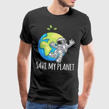 Astronaut Space Day Earth Gift Environment - Mannen Premium T-shirt