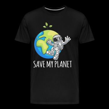 Astronaut Space Day Earth Gift Miljö - Premium-T-shirt herr