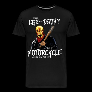 Life after death motorcycle skull baseball bat - Men's Premium T-Shirt