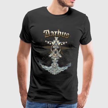 Aarhus Anchor Nautical Sailing Boat Summer - Men's Premium T-Shirt