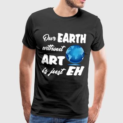 earthwith ART Planet Climate Design Museum - Men's Premium T-Shirt