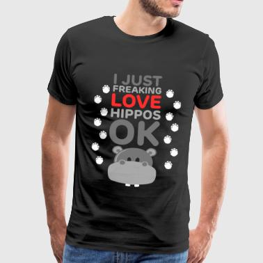 I Just Freaking Love Hippos - Favorite Wildlife - Men's Premium T-Shirt