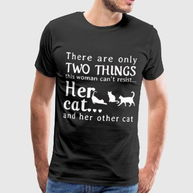 Her cat and her other cat - Men's Premium T-Shirt