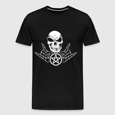 reaper french fork metal pentagram satan - Men's Premium T-Shirt
