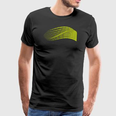 Les points jaunes de surface moderne - T-shirt Premium Homme