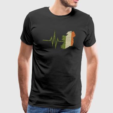 My heart beats for Ireland Irish home country - Men's Premium T-Shirt