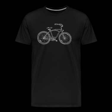 Illustration de Cruiser Bicycle personnalisé - T-shirt Premium Homme