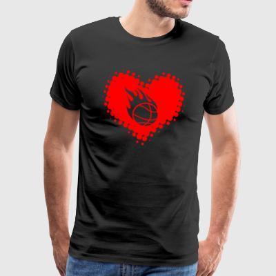 I love basketball - Basketballer Sport Fitness - Men's Premium T-Shirt
