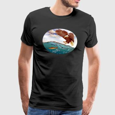 Eagle swooping - Herre premium T-shirt