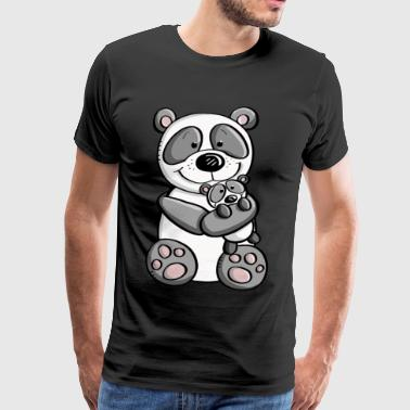 Panda bear with baby - children - family - Men's Premium T-Shirt