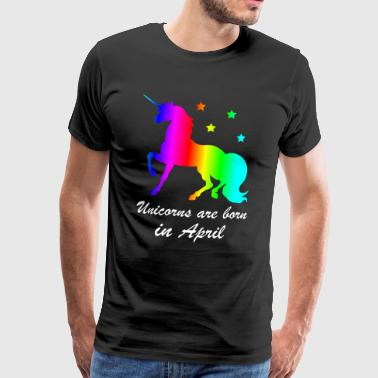 Unicorns Are Born In April - Männer Premium T-Shirt
