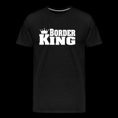 BORDER KING Border Collie Border Terrier - Men's Premium T-Shirt