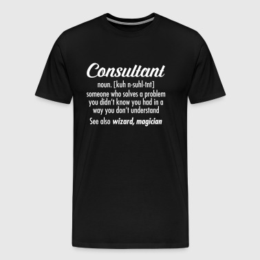 Consultant - Definition - Premium-T-shirt herr