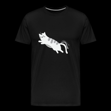 Jumping Caticorn - Funny Caticorn Cat - Mannen Premium T-shirt