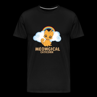 Meowgical Caticorn - Funny Caticorn Cat - Mannen Premium T-shirt
