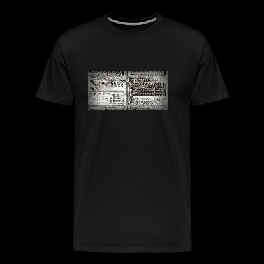 Vintage analogue synth - Men's Premium T-Shirt