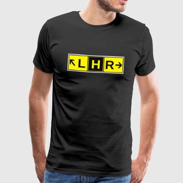 LHR Heathrow Airport Taxiway Direction Sign Array - Men's Premium T-Shirt