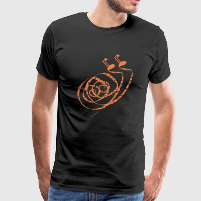Orange duck snail - Men's Premium T-Shirt
