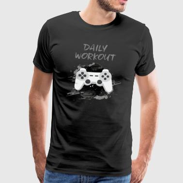 Video Game! Daily Workout! - Men's Premium T-Shirt