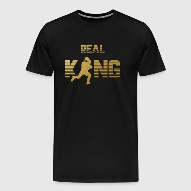 Real King - Football Quarterback - Men's Premium T-Shirt