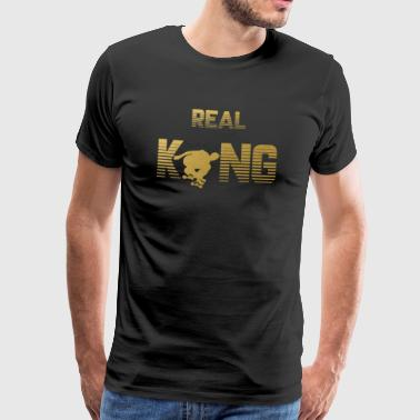 Ekte King - skater skating skating - Premium T-skjorte for menn