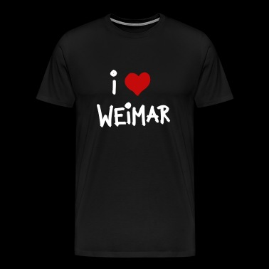I love Weimar - Men's Premium T-Shirt