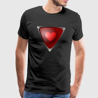 SBDesigns - Ruby Heart - Mannen Premium T-shirt