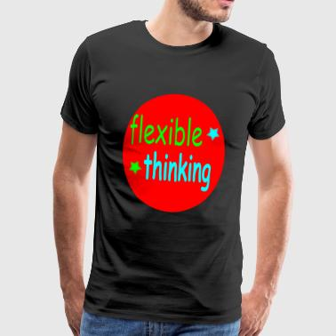 flexible thinking bunt - Männer Premium T-Shirt