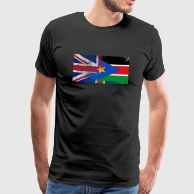 British Sudanese Half South Sudan Half UK Flag - Men's Premium T-Shirt