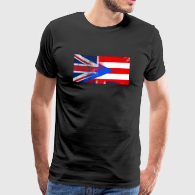 British Puerto Rico Half Puerto Rico Half UK Flag - Men's Premium T-Shirt