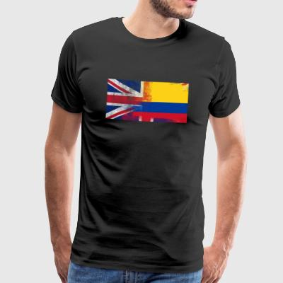 British Colombia Colombia Half Half UK Flag - Premium T-skjorte for menn