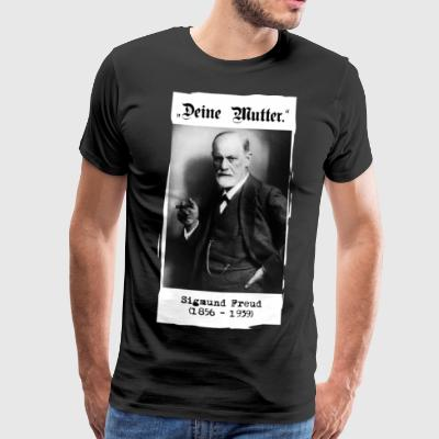 "Sigmund Freud - ""Your mother."" - Men's Premium T-Shirt"