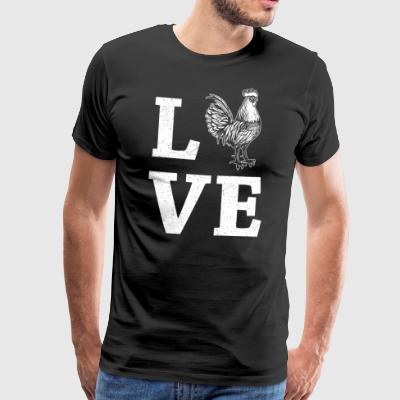 LOVE - cock, chicken - Men's Premium T-Shirt
