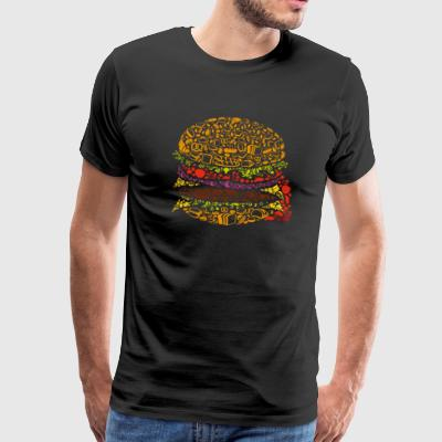 Burger Art - Premium-T-shirt herr