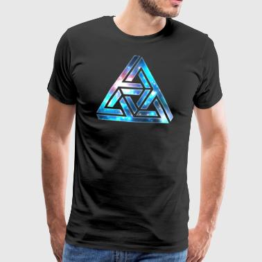 Optical Illusion, Impossible Triangle, 3D Shapes - Men's Premium T-Shirt