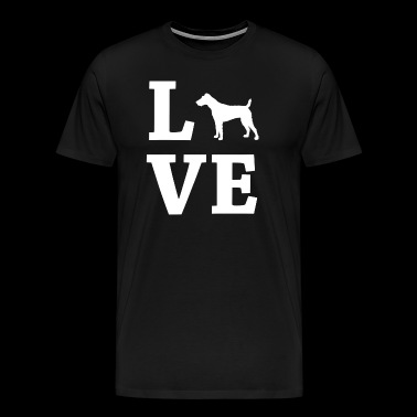 LOVE Fox Terrier, Fox Terrier - Men's Premium T-Shirt