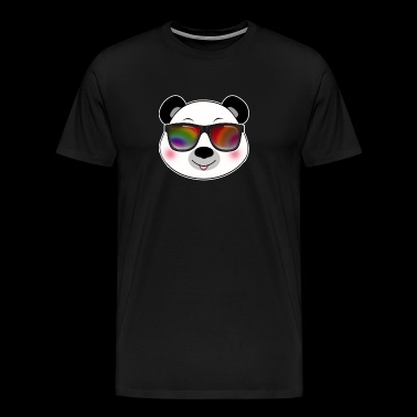 Cool panda with sunglasses summer cartoon - Men's Premium T-Shirt
